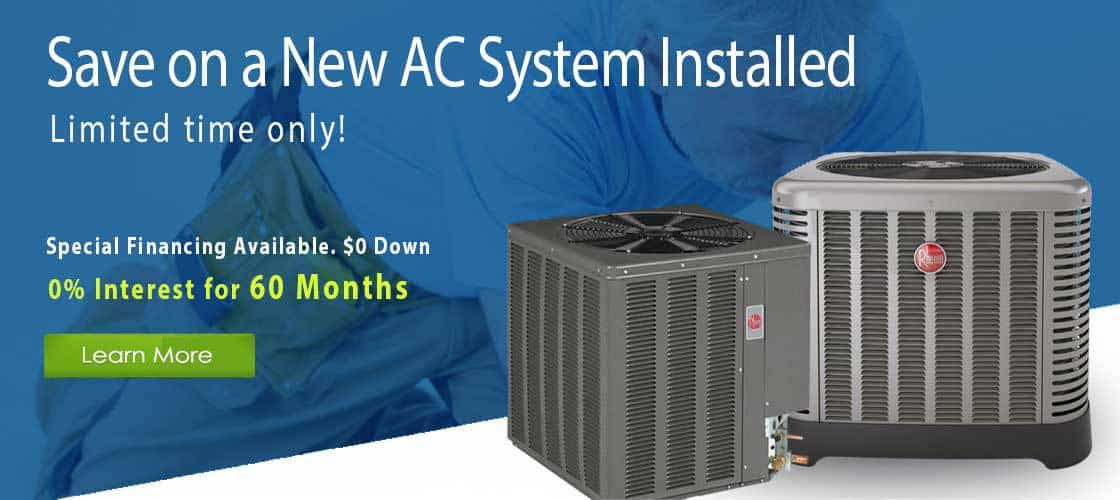 60 Months No Interest on Select AC Systems Installed