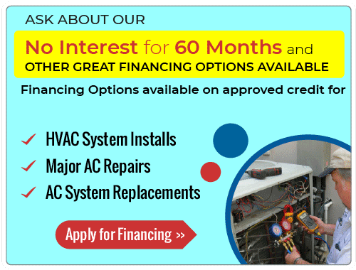 60 Month No Interest Financing Heating & Furnace Repairs and Installations Special