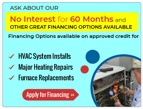 60 Month no Interest on AC Repairs and Installations Special