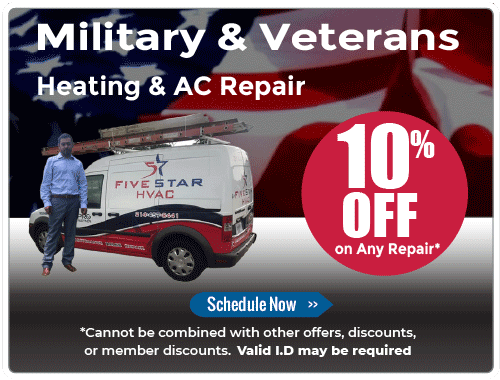 10% off AC Repairs for Military and Veterans