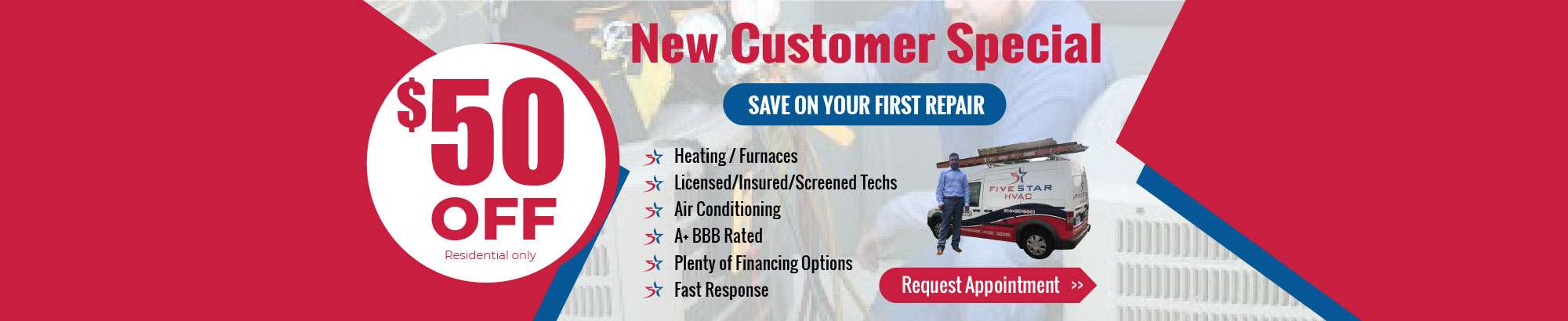 Rockwall Heating & Furnace Repair Special