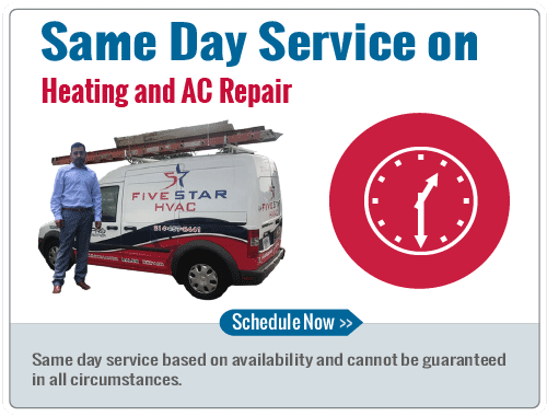 Same Day Service on AC & Heating